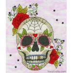 Sugar Skull Counted Cross Stitch Kit by Bothy Threads