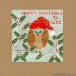 Xmas Owl Counted Cross Stitch Kit by Bothy Threads