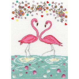Love Flamingo - Counted Cross Stitch Kit by Bothy Threads