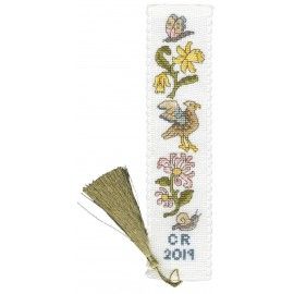 Daffodil And Honeysuckle Bookmark - Counted Cross Stitch Kit From Bothy Threads