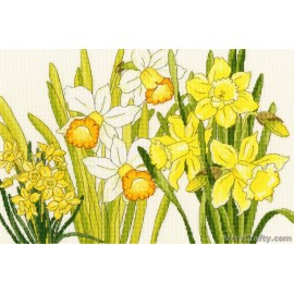 Daffodil Blooms Counted Cross Stitch Kit from Bothy Threads
