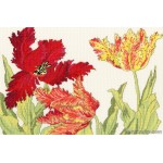 Tulip Blooms Counted Cross Stitch Kit from Bothy Threads