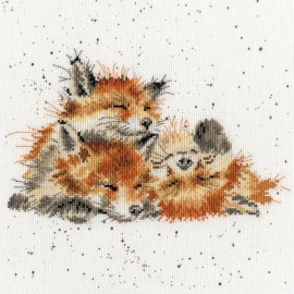 Afternoon Nap Counted Cross Stitch Kit by Bothy Threads