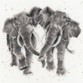 Age is Irrelephant - Elephant Counted Cross Stitch Kit by Hannah Dale of Wrendale Designs