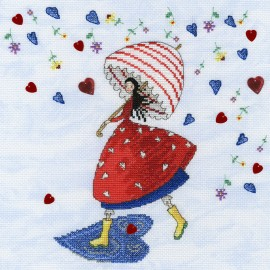 Flower Rain - Mila Marquis' Fairies Cross Stitch Kit from Bothy Threads