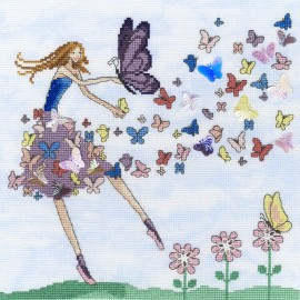 Butterfly Dance - Mila Marquis' Fairies Cross Stitch Kit from Bothy Threads