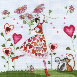 Miss Heart - Mila Marquis' Fairies Cross Stitch Kit from Bothy Threads