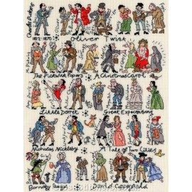 Dickens Cross Stitch Kit from Bothy Threads