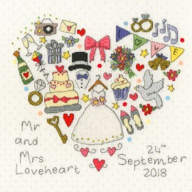 The Big Day Sampler Cross Stitch Kit From Bothy Threads