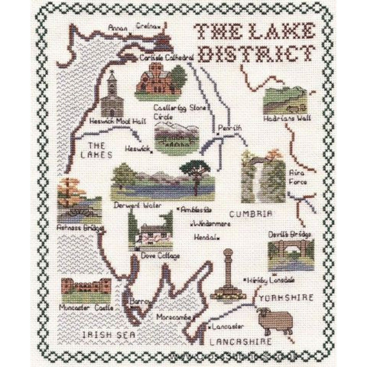 Counted Cross Stitch Kit-The Yorkshire Dales