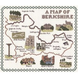 Berkshire Map Cross Stitch Kit  from Classic Embroidery
