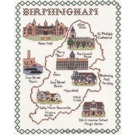 Birmingham Map Cross Stitch Kit from Classic Embroidery