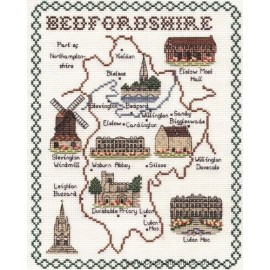 Bedfordshire Map Cross Stitch Kit from Classic Embroidery