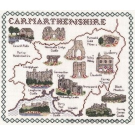 Carmarthenshire Map Cross Stitch Kit from Classic Embroidery