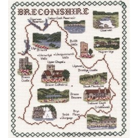 Breconshire Map Cross Stitch Kit from Classic Embroidery