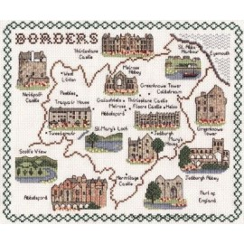 Borders Map Cross Stitch Kit from Classic Embroidery