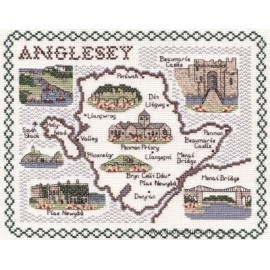 Anglesey Map Cross Stitch Kit from Classic Embroidery