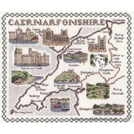 Caernarfonshire Map Cross Stitch Kit from Classic Embroidery