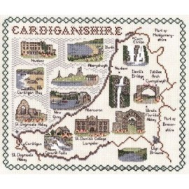 Cardiganshire Map Cross Stitch Kit from Classic Embroidery