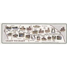 Coast to Coast Map Cross Stitch Kit from Classic Embroidery