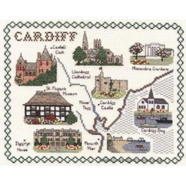 Cardiff Map Cross Stitch Kit from Classic Embroidery