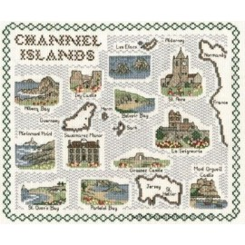 Channel Islands Map Cross Stitch Kit from Classic Embroidery