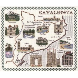 Catalunya Map Cross Stitch Kit from Classic Embroidery