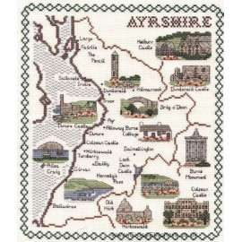 Ayrshire Map Cross Stitch Kit from Classic Embroidery