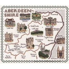Aberdeenshire Map Cross Stitch Kit from Classic Embroidery