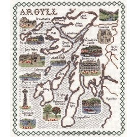 Argyll Map Cross Stitch Kit from Classic Embroidery