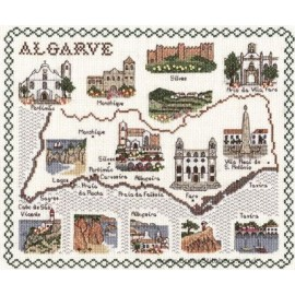 Algarve Map Cross Stitch Kit from Classic Embroidery