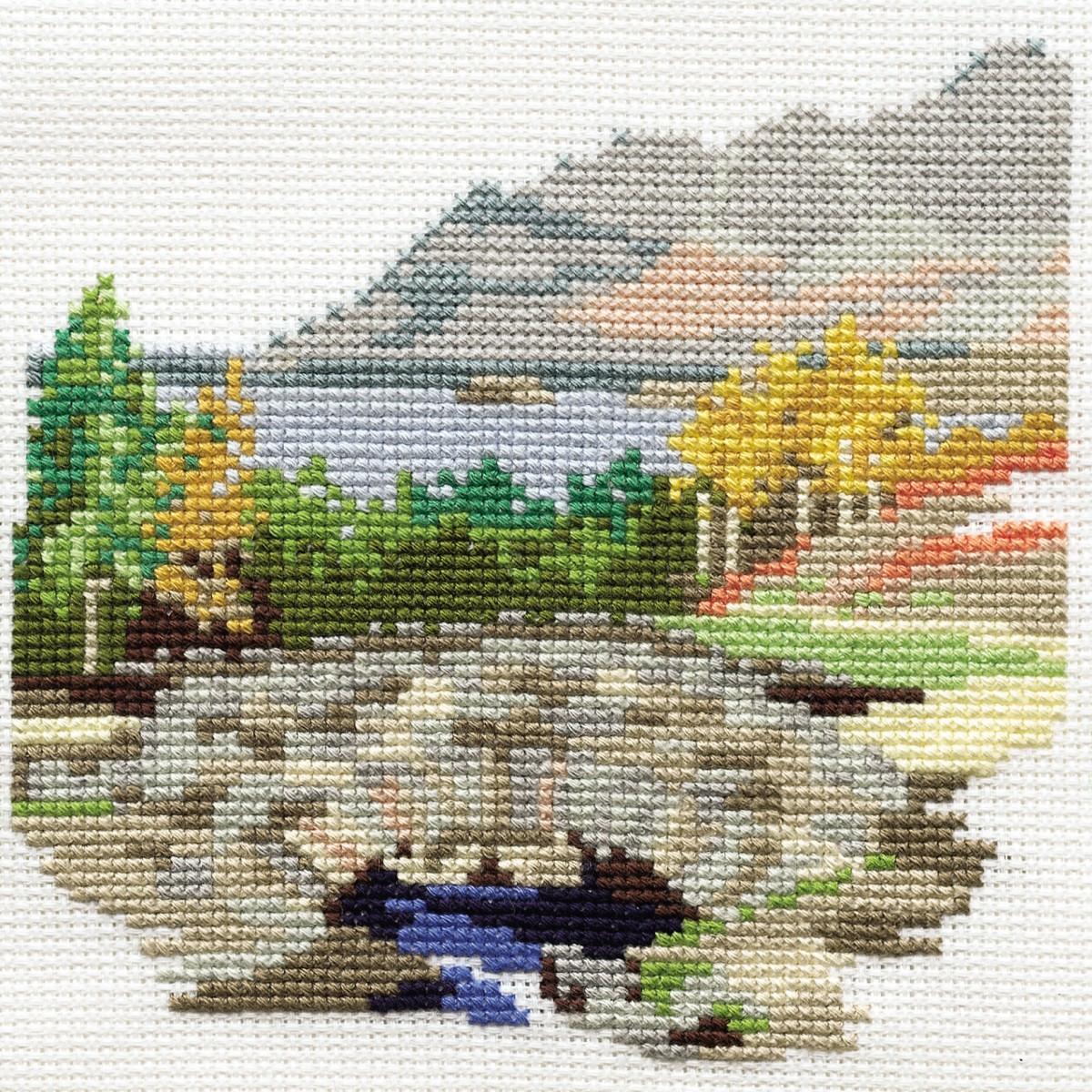Derwentwater Designs Cross Stitch Kit Bridge House Dales Designs
