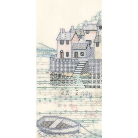 Creative Backstitch - The Harbour: Cobble Quay Blackwork Kit by Derwentwater Designs