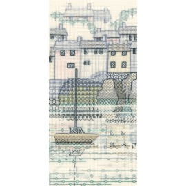 Creative Backstitch - The Harbour: Harbour View Blackwork Kit by Derwentwater Designs