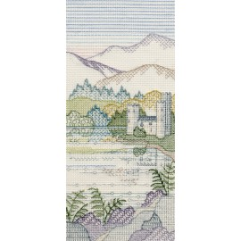Creative Backstitch - Heather Hills: Brackenrigg Castle Blackwork Kit by Derwentwater Designs