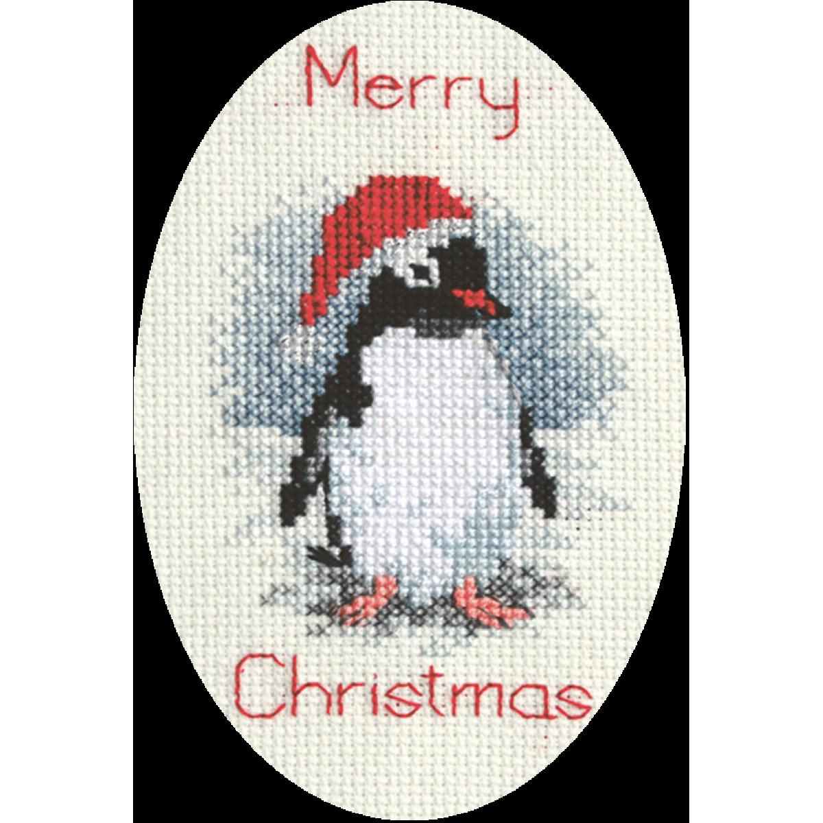 Penguin Derwentwater Designs Christmas Cross Stitch Card Kit