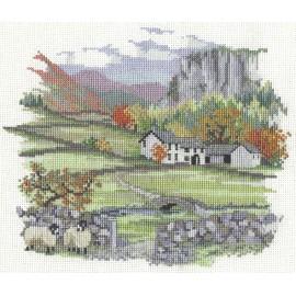 Countryside - Cragside Farm Cross Stitch Kit by Derwentwater Designs