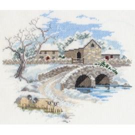 Countryside - Winterbourne Farm Cross Stitch Kit by Derwentwater Designs