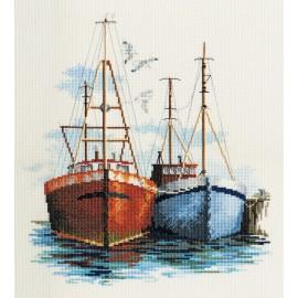 Coastal Britain - Fish Quay Cross Stitch Kit by Derwentwater Designs