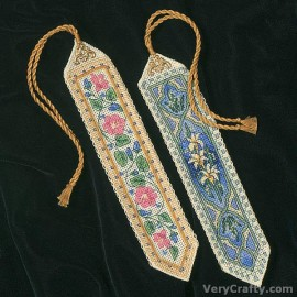 Gold Petite: Elegant Bookmarks Counted Cross Stitch Kit by Dimensions