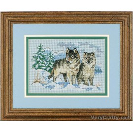 A Pair of Wolves Mini Counted Cross Stitch Kit by Dimensions