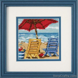 Beach Chair Duo Mini Tapestry Kit by Dimensions