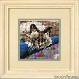 Cuddlycat Mini Tapestry Kit by Dimensions