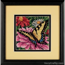 Butterfly on Zinnia Mini Tapestry Kit by Dimensions