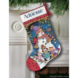 Stocking: Cute Carolers Counted Cross Stitch Kit by Dimensions
