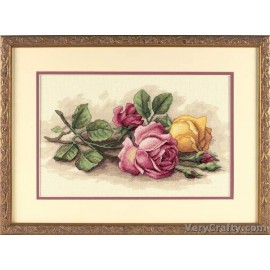 Rose Cuttings Counted Cross Stitch Kit by Dimensions