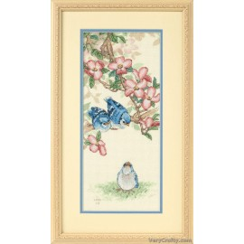 Baby Blue Jays Counted Cross Stitch Kit by Dimensions