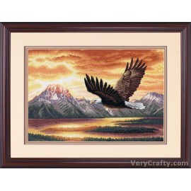 Gold: Silent Flight Counted Cross Stitch Kit by Dimensions