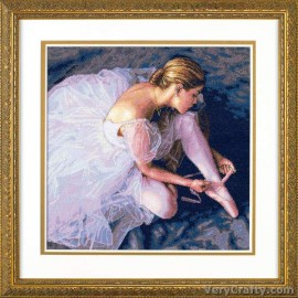Gold: Ballerina Beauty Counted Cross Stitch Kit by Dimensions
