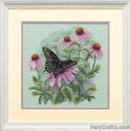 Butterfly & Daisies Counted Cross Stitch Kit by Dimensions